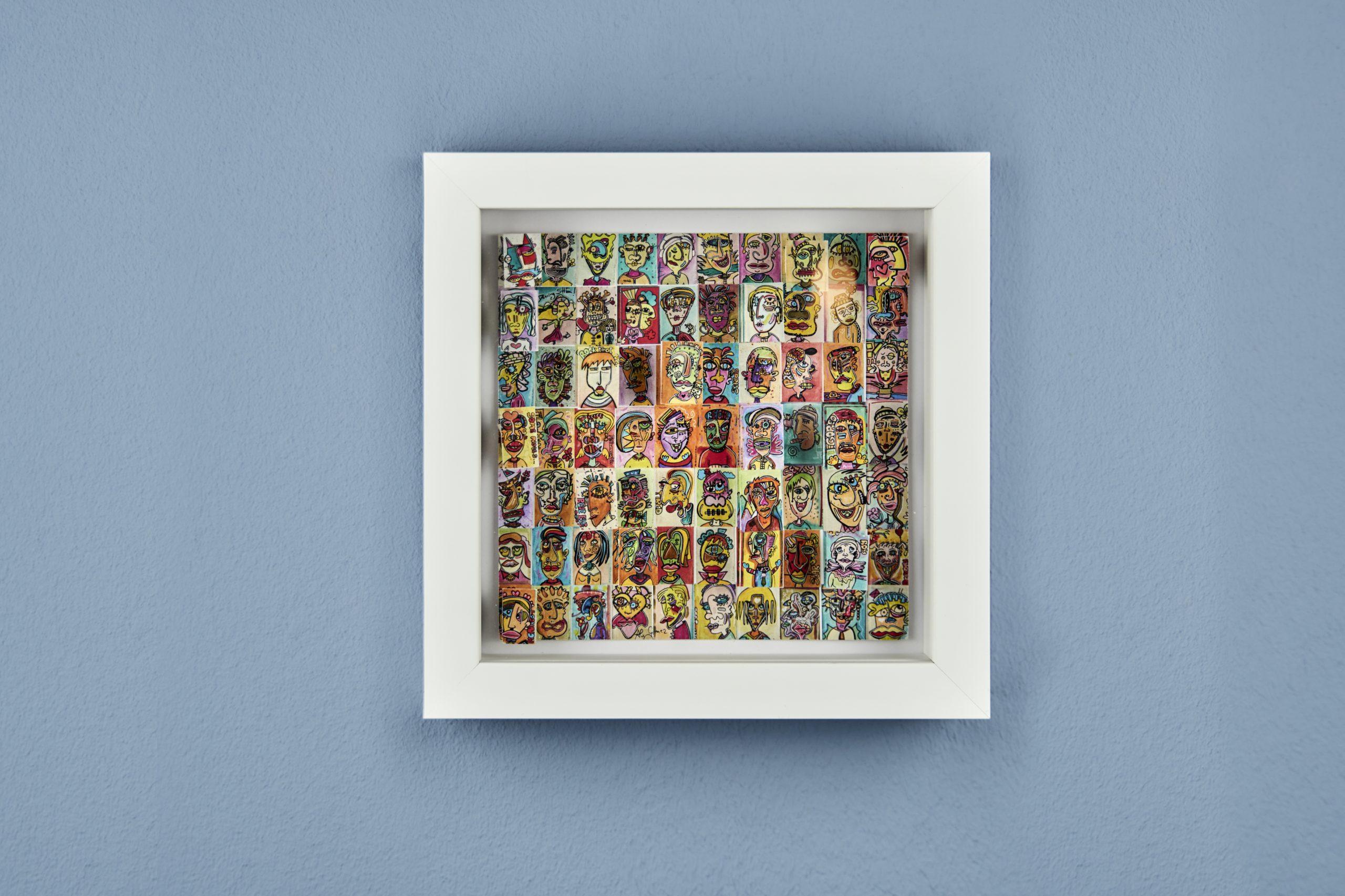 70 of 100 Faces - Pop Art 3D Bild - Ali Görmez Pop Art Berlin