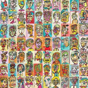 70 Faces - pop art by Ali Görmez