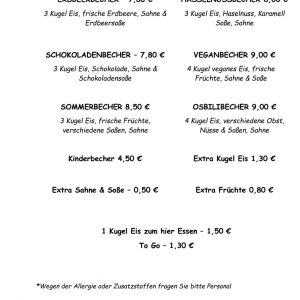 Getränkekarte Art Cafe Osbili -2