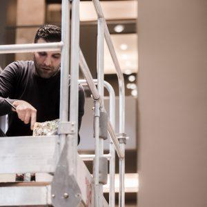 Ali Görmez bei der Gestaltung von Living Levels, Design von 42 m2,
