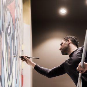 Ali Görmez bei der Gestaltung von Living Levels, Design von 42 m2