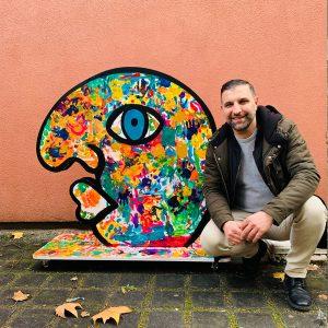 art character Eddy with Ali Görmez