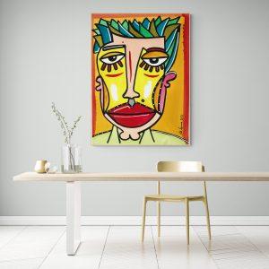 Face - acryl painting by Ali Görmez