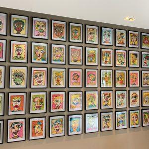 """Kunst-Serie """"50 Gesichter"""" von Ali Görmez"""