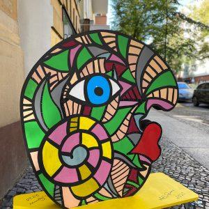 """Ambassador of peace - the Eddy - commissioned art worksby pop art artist Ali Görmez"