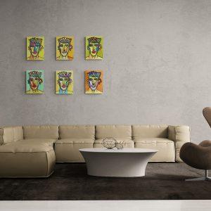 Art Serie 6 Faces by Ali Görmez
