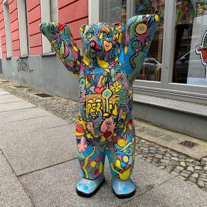 Berlin Bear - commissioned art worksby pop art artist Ali Görmez (07/21)