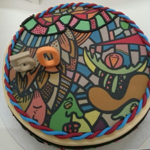 """Pop Art - Birthday cake"" - commissioned art worksby pop art artist Ali Görmez"