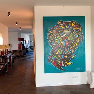 """The cobra and the birds"" 2020 -commissioned art worksby pop art artist Ali Görmez"