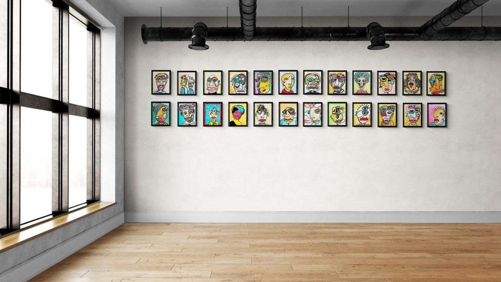 24 Gesichter/Faces Industriell - Ali Görmez Pop Art Berlin